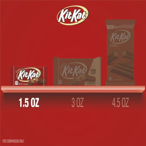 Kit Kat Milk Chocolate Crisp Wafer Candy Bar Perspective: bottom