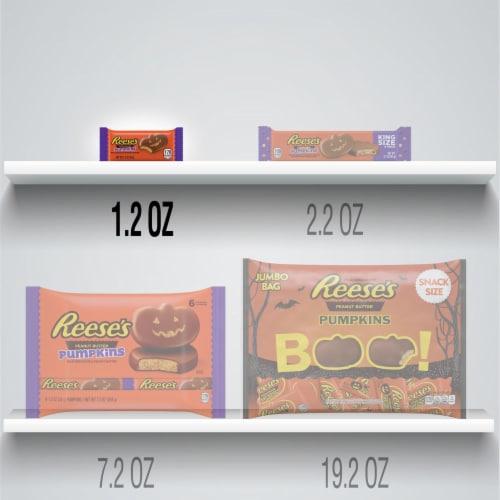 Reese's Peanut Butter Pumpkin Halloween Candy Perspective: bottom