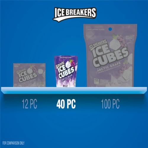 Ice Breakers Ice Cubes Arctic Grape Sugar Free Gum Perspective: bottom