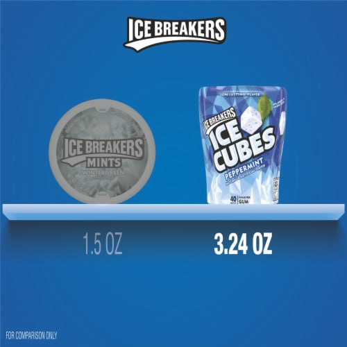 Ice Breakers Ice Cubes Peppermint Sugar Free Gum Perspective: bottom