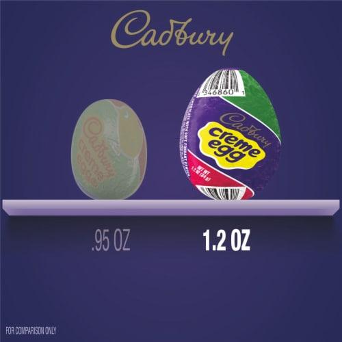 Cadbury Creme Milk Chocolate Eggs Perspective: bottom
