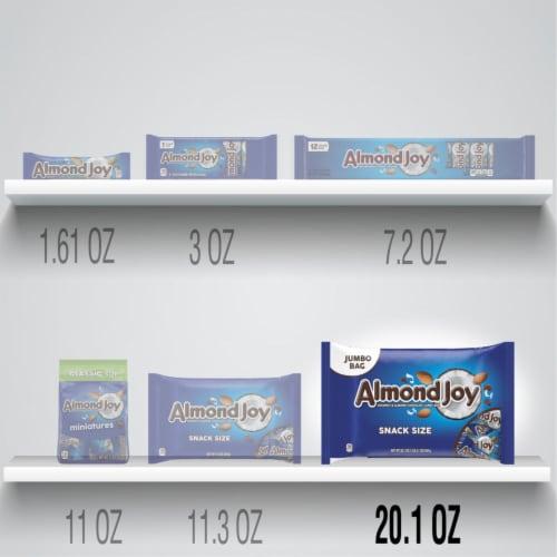 Almond Joy Snack Size Coconut & Almond Chocolate Candy Bars Perspective: bottom