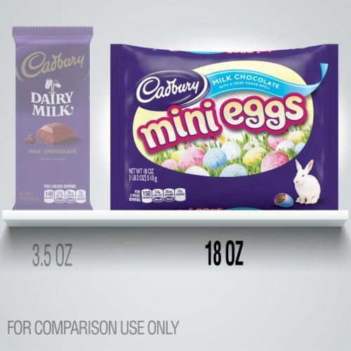 Cadbury Milk Chocolate Mini Eggs Perspective: bottom