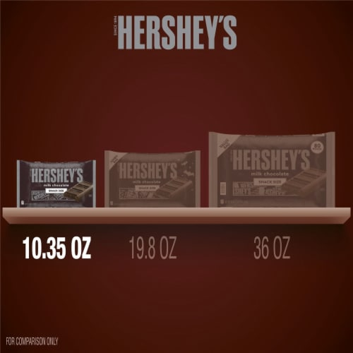 HERSHEY'S Milk Chocolate Snack Size Candy Bars Perspective: bottom