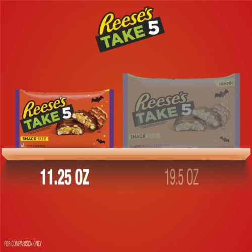 Reese's Take 5 Snack Size Candy Bars Perspective: bottom
