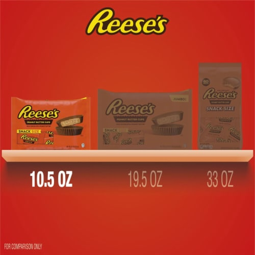 REESE'S Snack Size Peanut Butter Cups Perspective: bottom