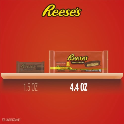 Reese's Milk Chocolate Peanut Butter Cups Snack Size Perspective: bottom
