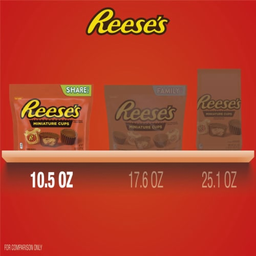 Reese's Miniature Milk Chocolate Peanut Butter Cups Candy Share Pack Perspective: bottom