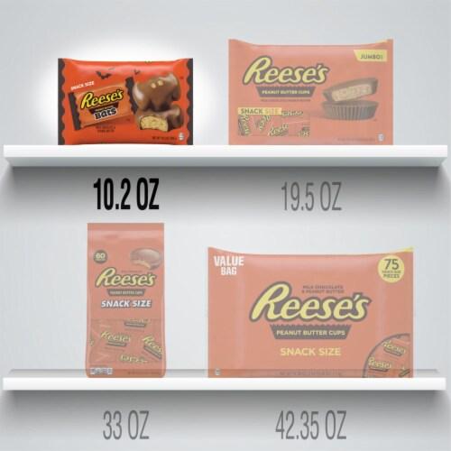 Reese's Halloween Snack Size Milk Chocolate Peanut Butter Bats Perspective: bottom