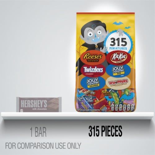 Hershey's Miniature Halloween Candy Assortment Perspective: bottom