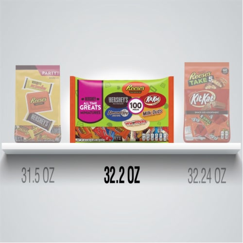 Hershey's All Time Greats Miniatures Candy Assortment Perspective: bottom