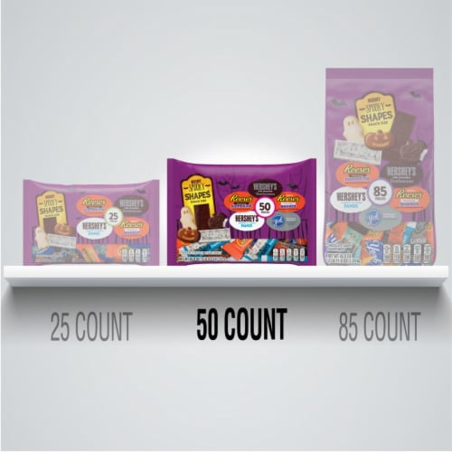 Hershey Spooky Shapes Snack Size Candy Assortment Perspective: bottom