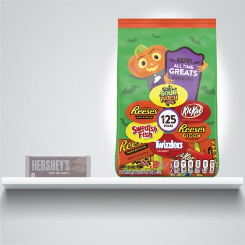Hershey All-Time Greats Snack Size Halloween Candy Assortment Perspective: bottom