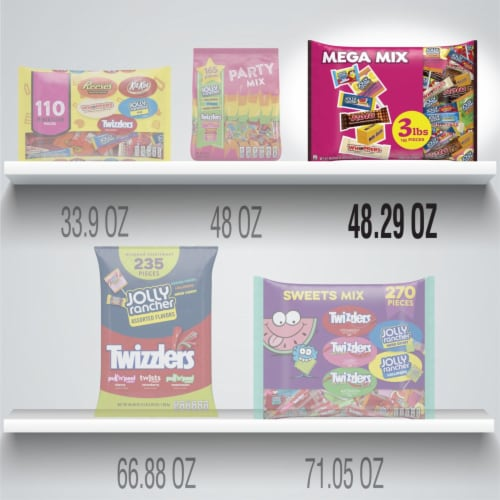 Hershey's Mega Mix Candy Assortment Perspective: bottom