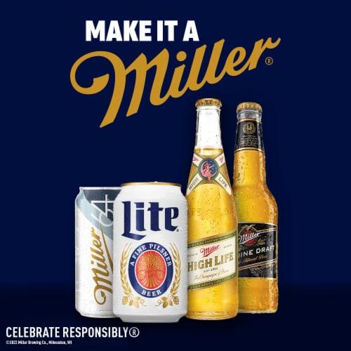 Miller Lite American Light Lager Beer Perspective: bottom