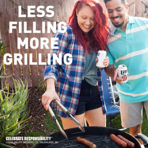 Miller Lite American Light Lager Beer Perspective: bottom