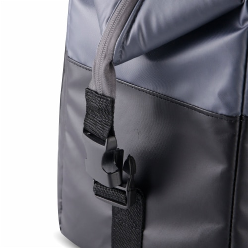 Igloo Durable & Adjustable Insulated Snapdown 36 Can Cooler Bag, Black and Gray Perspective: bottom