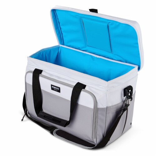 Igloo Coast Durable & Compact Insulated 36 Can Cooler Duffel Bag, White and Gray Perspective: bottom