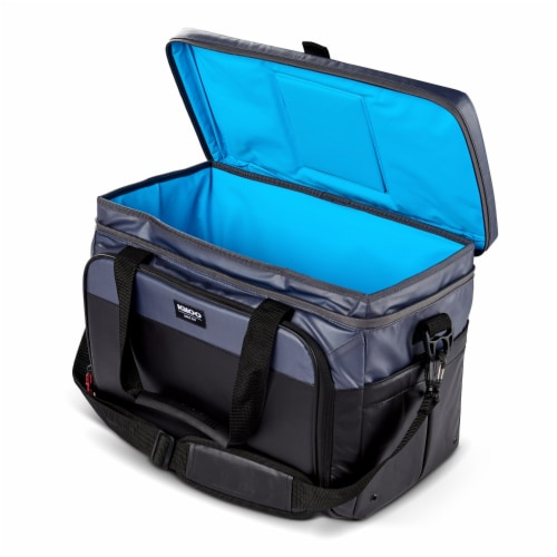Igloo Coast Durable and Compact Insulated 36 Can Cooler Duffel Bag, Dark Blue Perspective: bottom