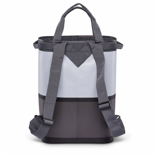 Igloo Reactor Portable 46 Can Soft Insulated Cinch Backpack Cooler Bag, Gray Perspective: bottom
