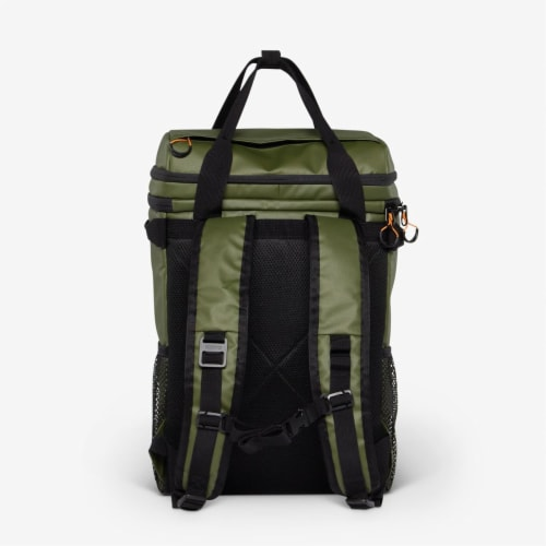 Igloo Pursuit 24 Can Portable Backpack Cooler w/ Adjustable Straps, Chive Green Perspective: bottom