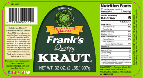 Frank's Quality Kraut Perspective: bottom