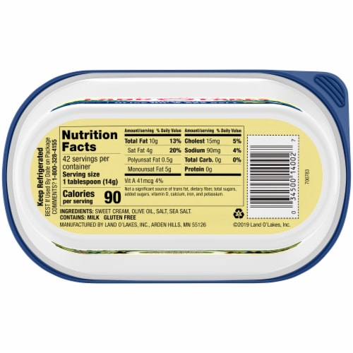 Land O' Lakes® Olive Oil & Sea Salt Spreadable Butter Perspective: bottom