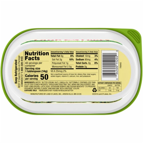 Land O' Lakes Canola Oil Light Butter Spread Perspective: bottom