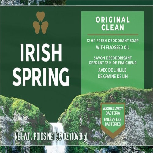 Irish Spring® Original Deodorant Bar Soap Perspective: bottom