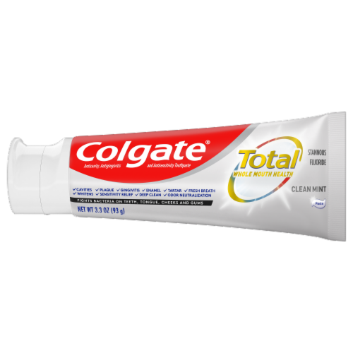 Colgate Total Clean Mint Toothpaste Perspective: bottom