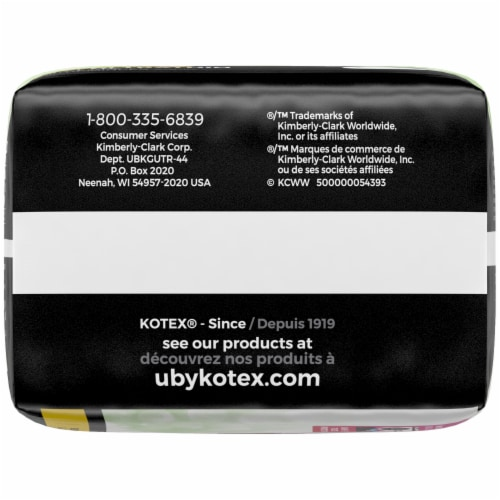 U by Kotex Security Ultra Thin Regular Unscented Pads Perspective: bottom