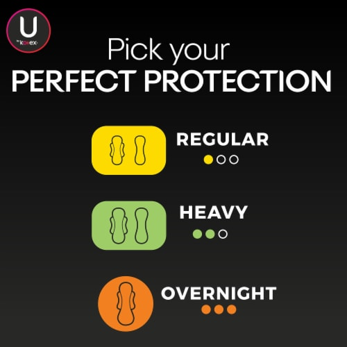U by Kotex Security Ultra Thin Heavy Flow Pads Perspective: bottom