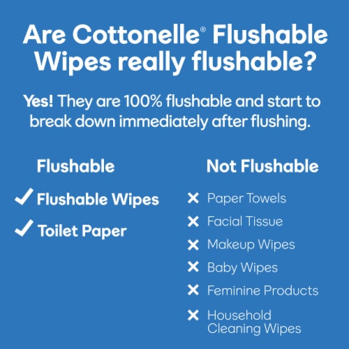Cottonelle Flushable Wet Wipes Refill Pack Perspective: bottom