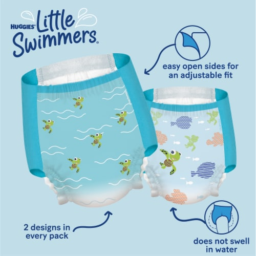 Huggies Little Swimmers Size 5 & 6 Swim Diapers 17 Count Perspective: bottom