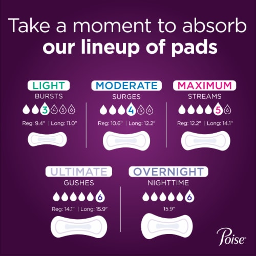 Poise® Ultimate Absorbency Incontinence Pads Perspective: bottom