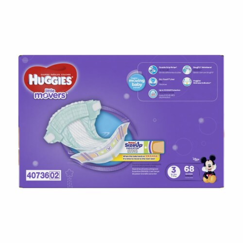 Huggies Little Movers Size 3 Diapers Perspective: bottom