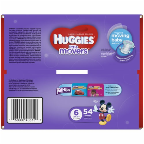 Huggies Size 6 Little Movers Diapers Perspective: bottom