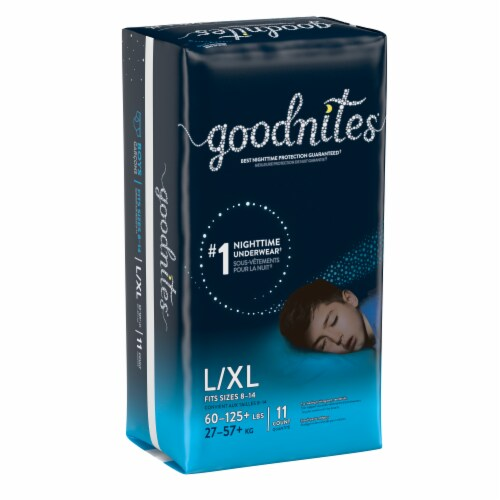 Goodnites Bedwetting Underwear for Boys L/XL Perspective: bottom
