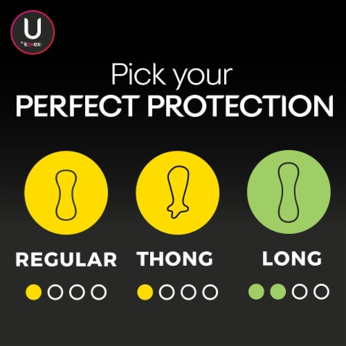 U by Kotex Barely There Regular Wrapped Everyday Liners Perspective: bottom