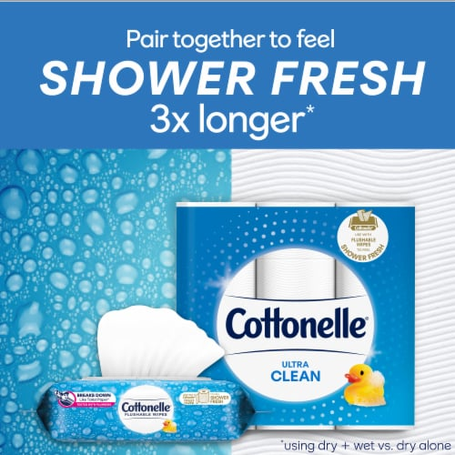 Cottonelle FreshCare Flushable Wet Wipes Perspective: bottom