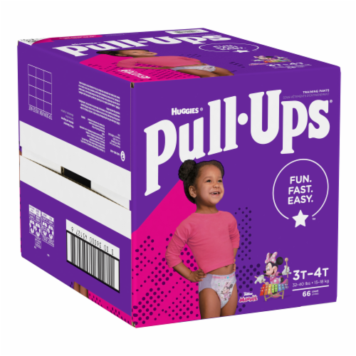 Pull-Ups Learning Designs Girls 3T-4T Training Pants Perspective: bottom