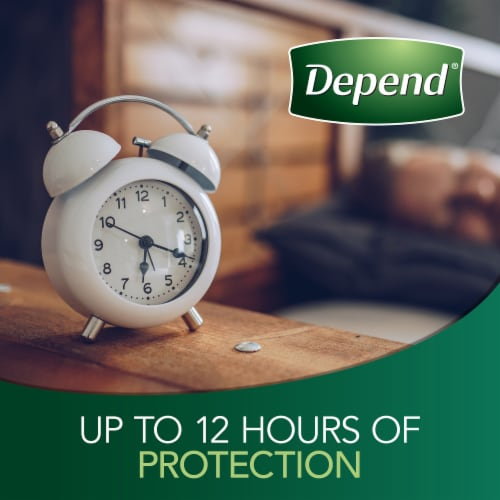 Depend Night Defense Overnight Absorbency Large Incontinence Underwear for Women Perspective: bottom