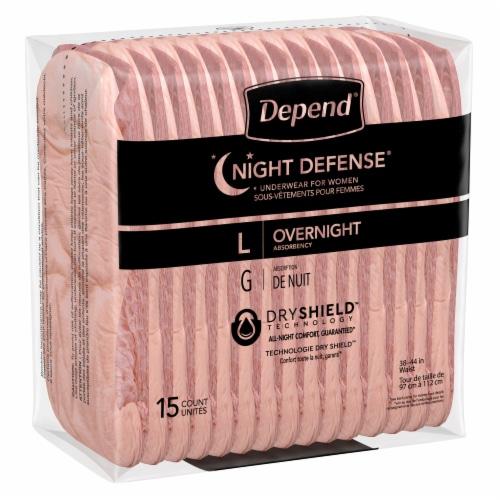 Depend® Night Defense Large Underwear for Women Perspective: bottom