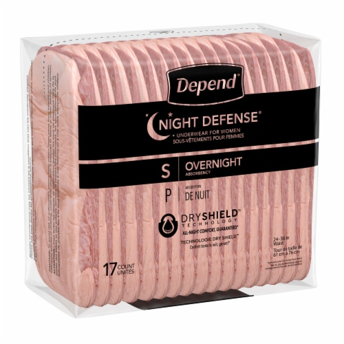 Depend Night Defense Women's Small Underwear Perspective: bottom