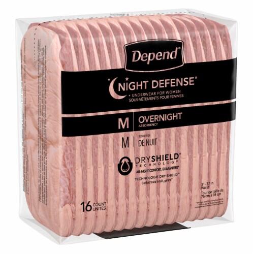 Depend Night Defense Medium Women's Underwear Perspective: bottom