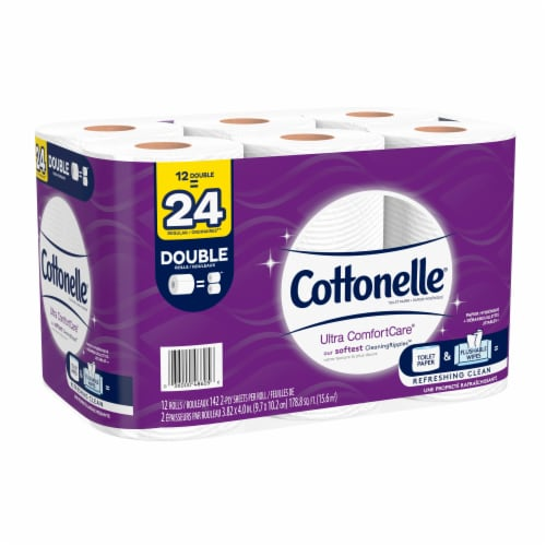 Cottonelle Ultra ComfortCare Double Roll Toilet Paper Perspective: bottom