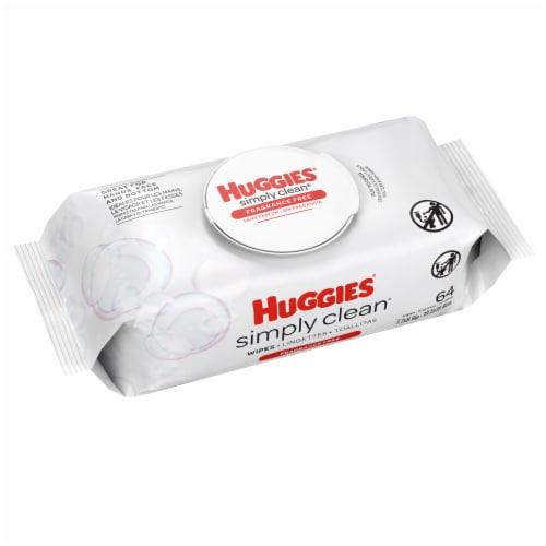 Huggies® Simply Clean® Fragrance Free Baby Wipes Flip-Top Pack Perspective: bottom