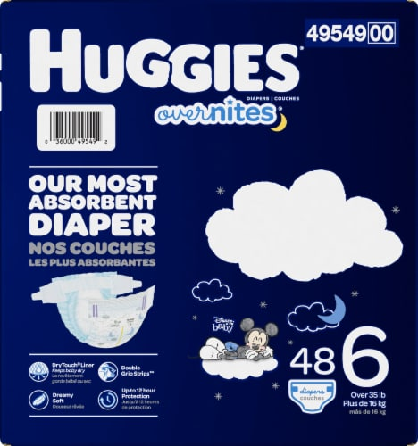 Huggies Overnites Nighttime Size 6 Diapers Perspective: bottom