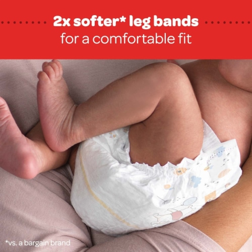 Huggies Little Snugglers Size 1 Baby Diapers Perspective: bottom