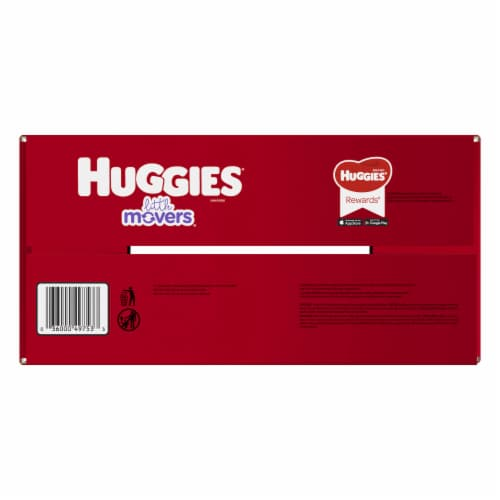 Huggies Little Movers Diapers Size 4 Perspective: bottom